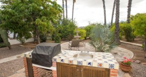 An entertainers dream garden~ Two 2bed/2bath homes on one large lot in quiet neighborhood of Nopolo, Loreto